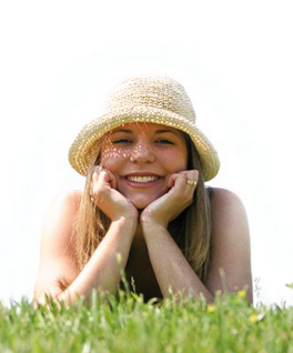 Smiling woman in a hat
